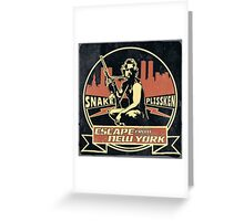 Snake Plissken (Escape from New York) Badge Vintage Greeting Card