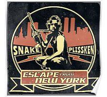 Snake Plissken (Escape from New York) Badge Vintage Poster