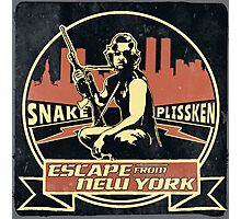 Snake Plissken (Escape from New York) Badge Vintage Photographic Print