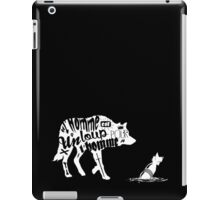 Man is a wolf to man iPad Case/Skin