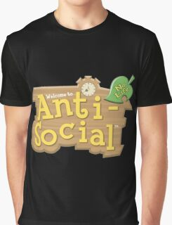 Anti Social No Life Graphic T-Shirt