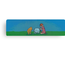 Eeyore loses a tail Canvas Print
