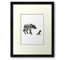 Man is a wolf to man Framed Print