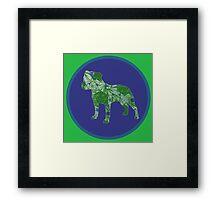 Staffy Dog Framed Print