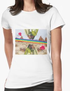 Exploded in the sky Womens Fitted T-Shirt