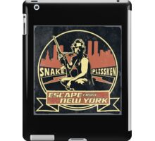 Snake Plissken (Escape from New York) Badge Vintage iPad Case/Skin