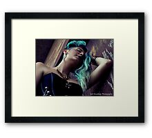 Courtney Glitch Steampunk Framed Print