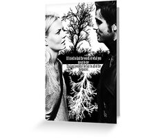 Captain Swan Black and White Greeting Card