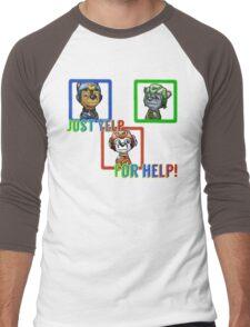 Yelp for help Men's Baseball ¾ T-Shirt