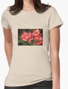 Apricot Rhodo Womens Fitted T-Shirt