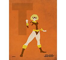 Terra - Superhero Minimalist Alphabet Print Art Photographic Print