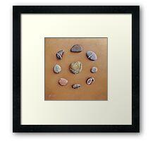 """Stone letters"" Framed Print"
