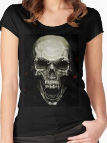 Undead Skull Women's Fitted Scoop T-Shirt