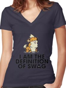 Pokemon Swag Women's Fitted V-Neck T-Shirt