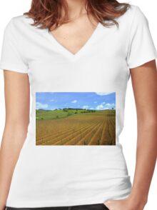 Vineyards  Women's Fitted V-Neck T-Shirt