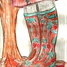 Autumn Walk In Wellingtons by RobynLee