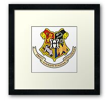 Hogwarts School Of Witchcraft and Wizadry Crest Framed Print