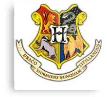 Hogwarts School Of Witchcraft and Wizadry Crest Metal Print