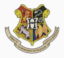 Hogwarts School Of Witchcraft and Wizadry Crest T-Shirt
