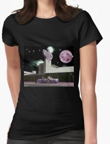 Moon day Womens Fitted T-Shirt