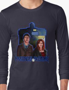 Partners In Crime Doctor Who Tenth Doctor Donna Noble David Tennant Catherine Tate #DTfan4life  Long Sleeve T-Shirt