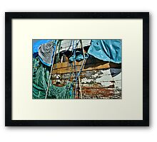 Old 'Boat Stuff' Framed Print