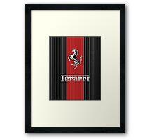 Ferrari Lover #3 [Silver - Red] Framed Print