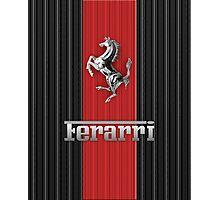 Ferrari Lover #3 [Silver - Red] Photographic Print