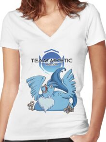 Legenderpy Birb Mystic Women's Fitted V-Neck T-Shirt