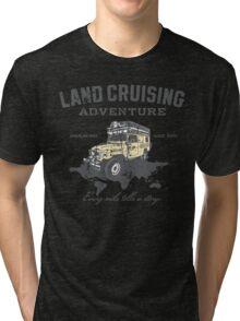 Every Mile Tells a Story - grey print Tri-blend T-Shirt