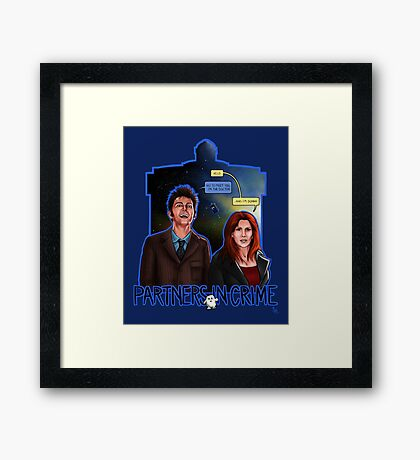 Partners In Crime Doctor Who Tenth Doctor Donna Noble David Tennant Catherine Tate #DTfan4life  Framed Print