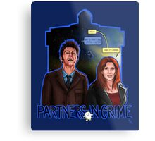 Partners In Crime Doctor Who Tenth Doctor Donna Noble David Tennant Catherine Tate #DTfan4life  Metal Print