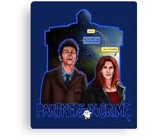 Partners In Crime Doctor Who Tenth Doctor Donna Noble David Tennant Catherine Tate #DTfan4life  Canvas Print