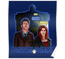 Partners In Crime Doctor Who Tenth Doctor Donna Noble David Tennant Catherine Tate #DTfan4life  Poster