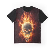 Skull in fire Graphic T-Shirt