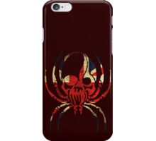 BRITISH SPIDER SKULL FLAG  iPhone Case/Skin