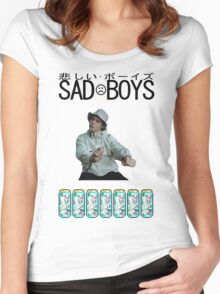 Sad Boys Yung Lean  Women's Fitted Scoop T-Shirt