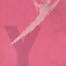 Yz the Thunderbolt - Superhero Minimalist Alphabet Print Art by justicedefender