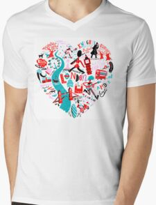 The Landmark London Mens V-Neck T-Shirt