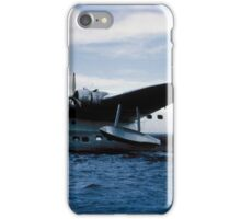 Short Sandringham Flying Boat on the River Thames, VH-BRC iPhone Case/Skin