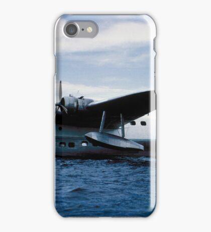 Short Sandringham Flying Boat on the River Thames, VH-BRC iPhone Case/Skin