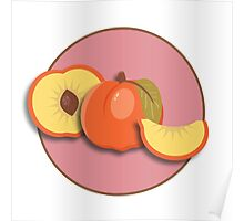 Peach Slices Poster