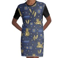 Kenyan Leopard Graphic T-Shirt Dress
