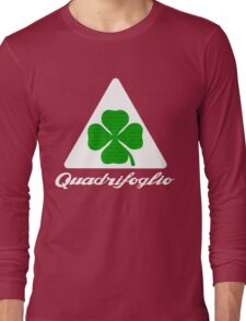 Quadrifoglio Alfa Fill Graphic Print Long Sleeve T-Shirt
