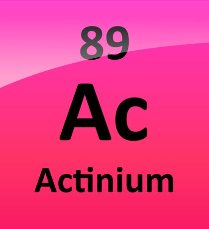 Actinium Periodic Table Element Symbol Sticker