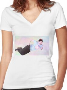Kawaii Phil 2 Women's Fitted V-Neck T-Shirt