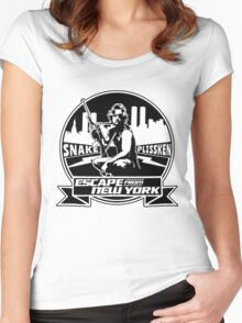 Snake Plissken (Escape from New York) Badge Women's Fitted Scoop T-Shirt