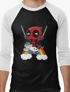 deadpool union Men's Baseball ¾ T-Shirt