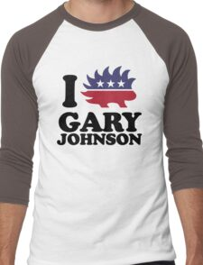 I Love Gary Johnson Men's Baseball ¾ T-Shirt