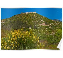 The fortified Byzantine town of Mystras Poster